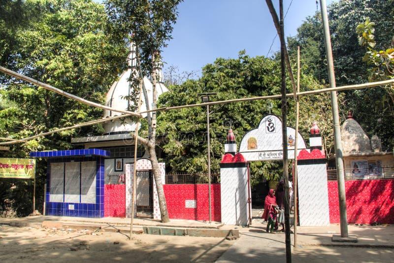 在Maheskhali海岛,孟加拉国上的印度寺庙 图库摄影