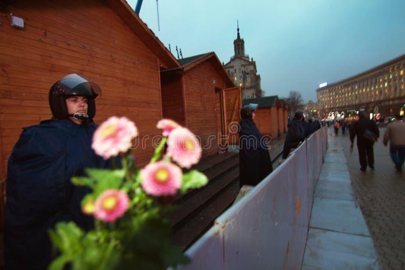 在Maidan的集会欧盟的 免版税库存图片