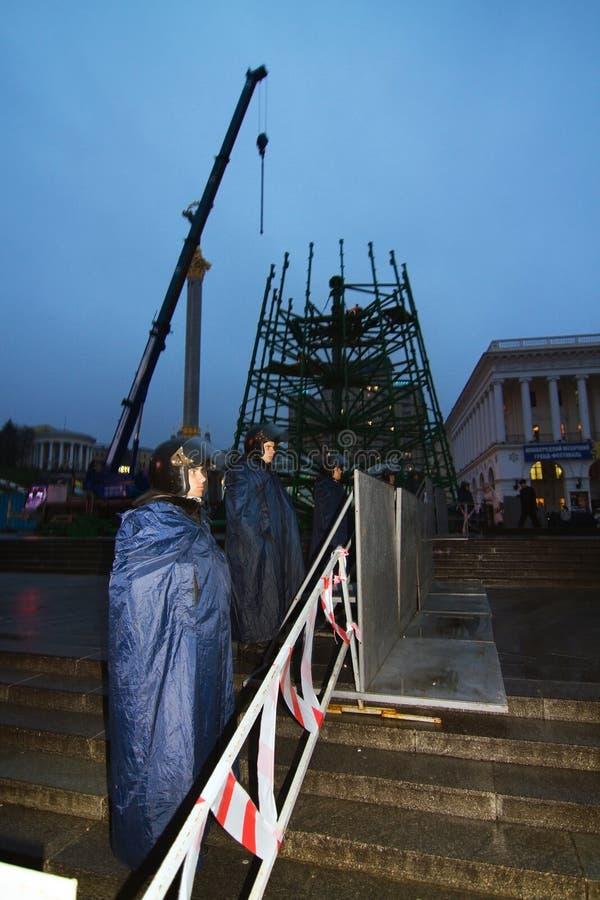 在Maidan的集会欧盟的 库存照片