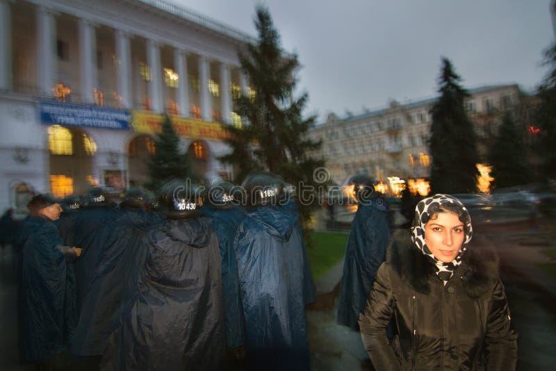 在Maidan的集会欧盟的 免版税图库摄影