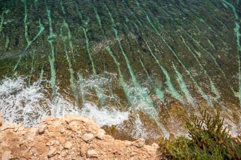 在Marsascala马耳他附近的风景 免版税库存照片