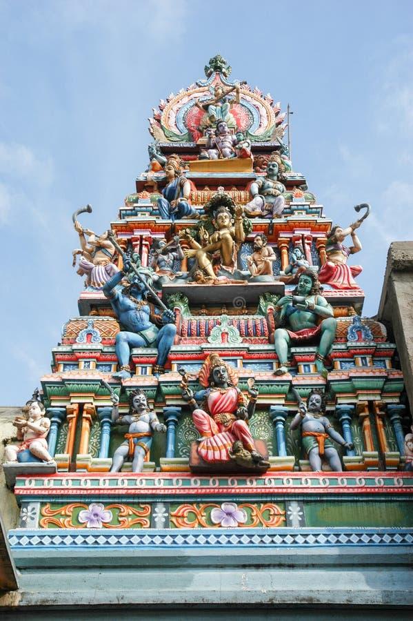 在Matale的Sri Muthumariamman Kovil印度寺庙 免版税库存图片