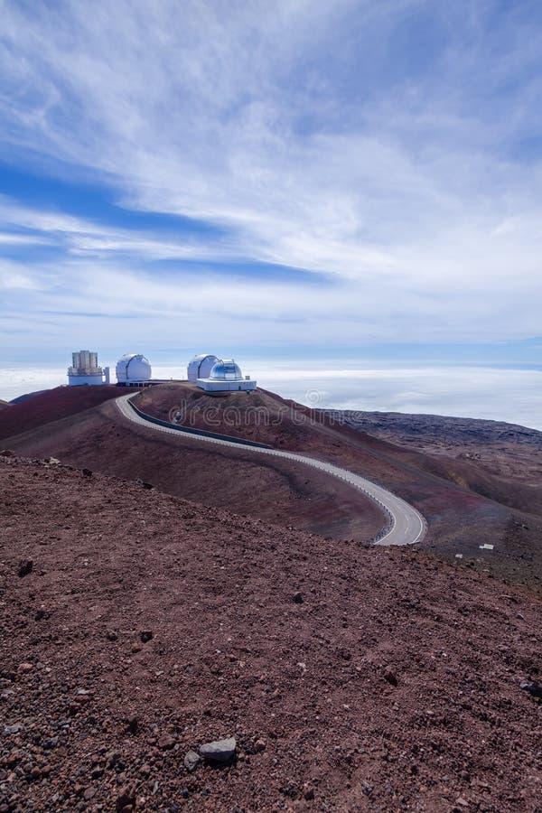 在Mauna Kea顶部的Astronmy复杂 免版税库存图片