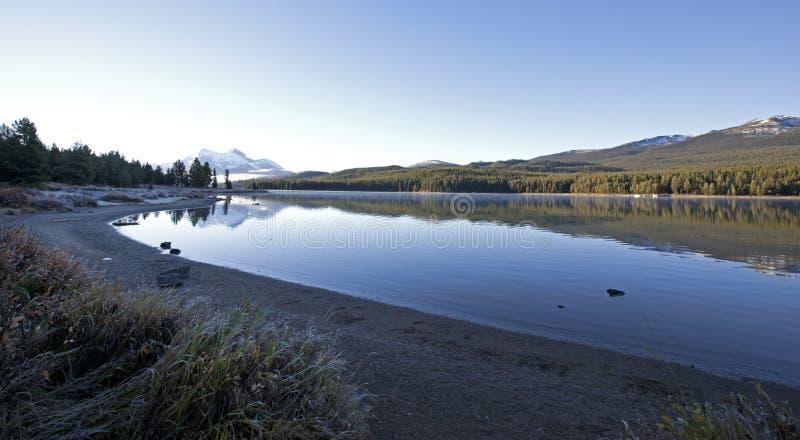 在Medicine湖,亚伯大的早晨 免版税库存照片