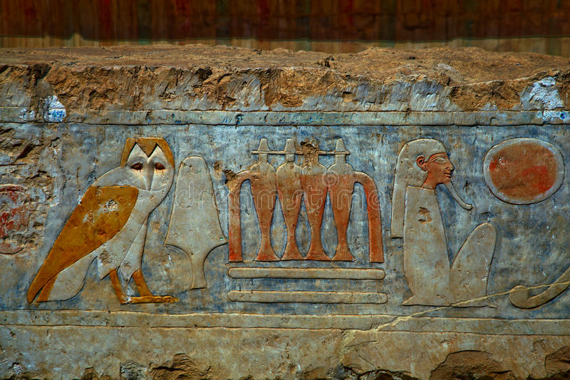 象形文字在埃及 免版税库存照片