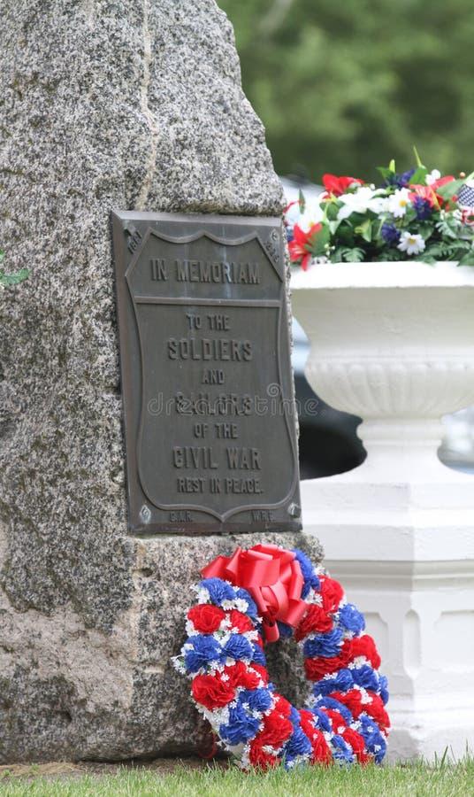 在Memoriam石头南北战争 库存照片