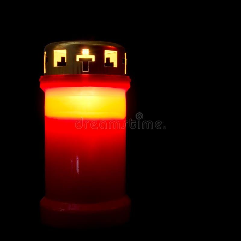 在Memoriam, remembance公墓蜡烛 诸圣日等 库存照片