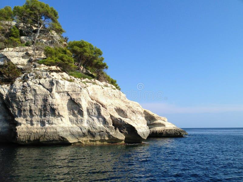 在Menorca海岛,西班牙的夏日 免版税库存图片