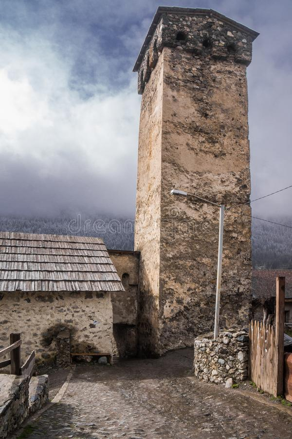 在mesti的防御塔 免版税库存图片