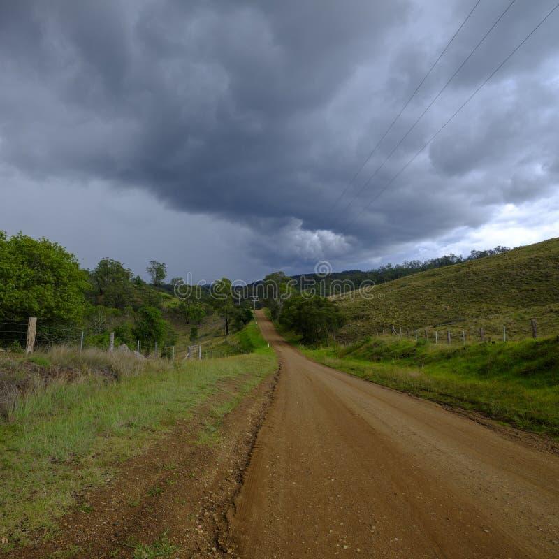 在Millfield和塞斯诺克在洪特尔谷,NSW,澳大利亚附近的看法 免版税库存照片