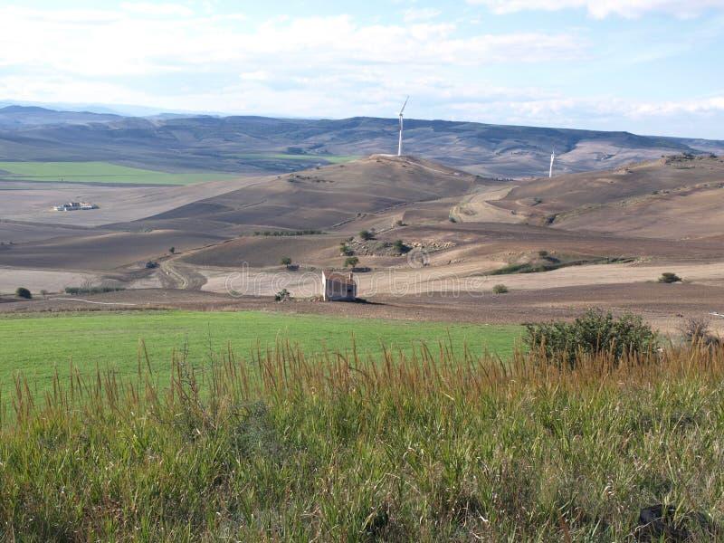 在Minvervino Murge附近的高平原 免版税库存照片