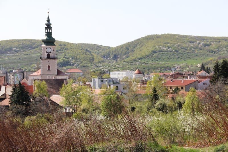 在Modra镇iarrived的春天  免版税库存照片