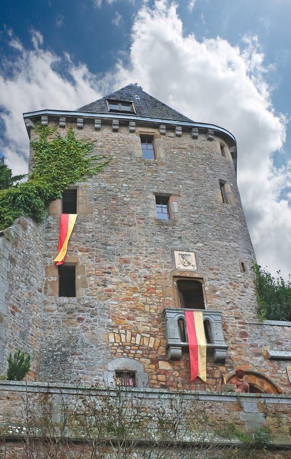 在Mont圣徒耸立米谢尔修道院里。 免版税库存照片