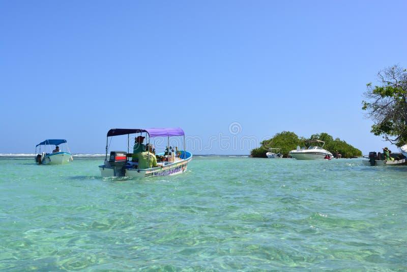 在Morrocoy国家公园,加勒比海,委内瑞拉的Juanes海滩 免版税图库摄影