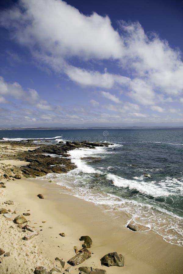 在Mosselbay的海滩 免版税库存图片