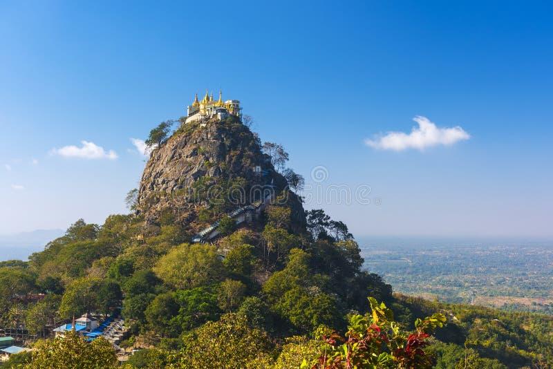 在Mt附近的寺庙 Popa 库存图片