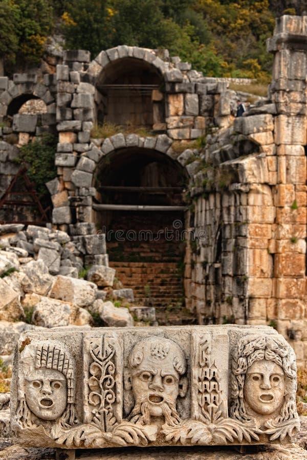 在Myra土耳其的场面 库存照片