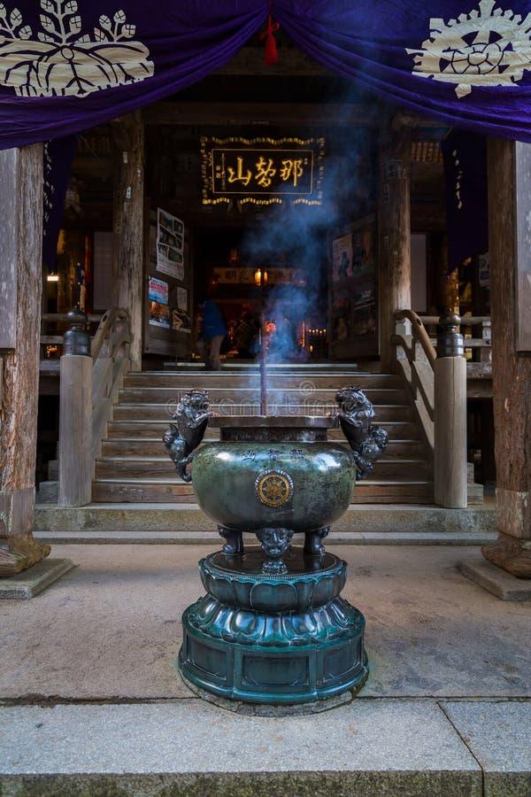 在Nachi Katsuura的Seiganto籍寺庙在和歌山 库存图片