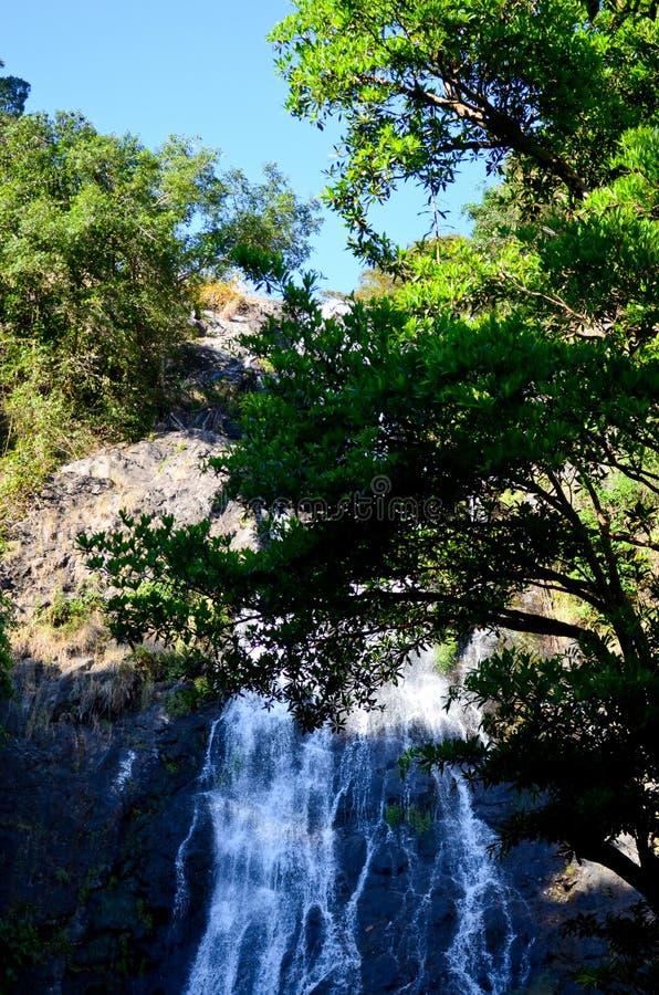 在Nakhon Nayok泰国的瀑布 免版税库存图片