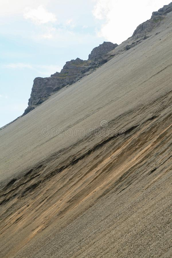 在Namafjall的山坡 免版税库存图片
