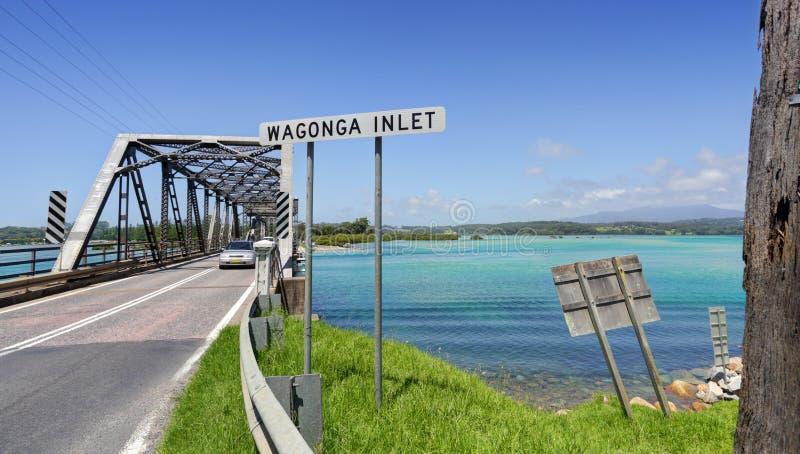 在Narooma的Wagonga入口 库存图片