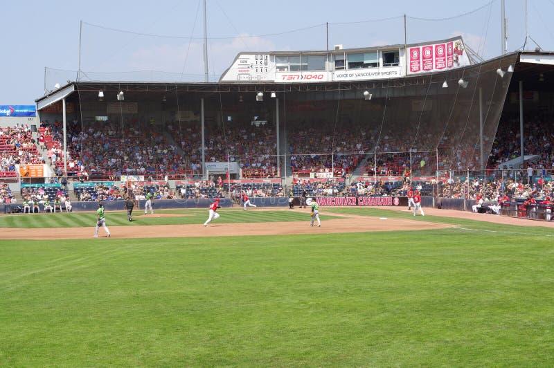 在nat贝里体育场的棒球场 免版税库存照片