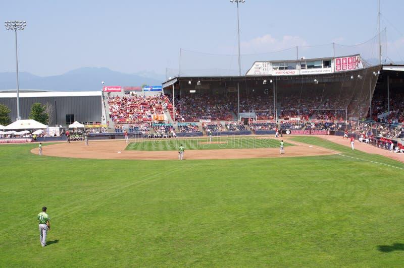 在nat贝里体育场的棒球场 免版税库存图片