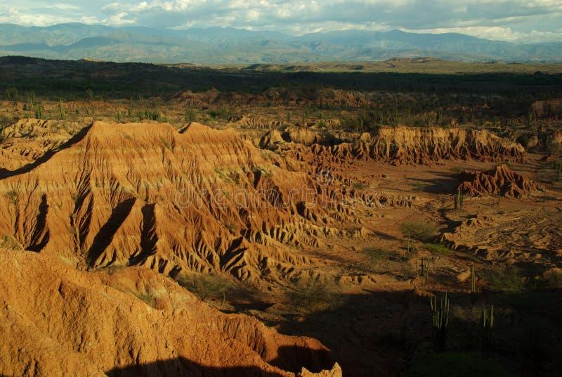 在neiva tatacoa附近的哥伦比亚沙漠 免版税图库摄影