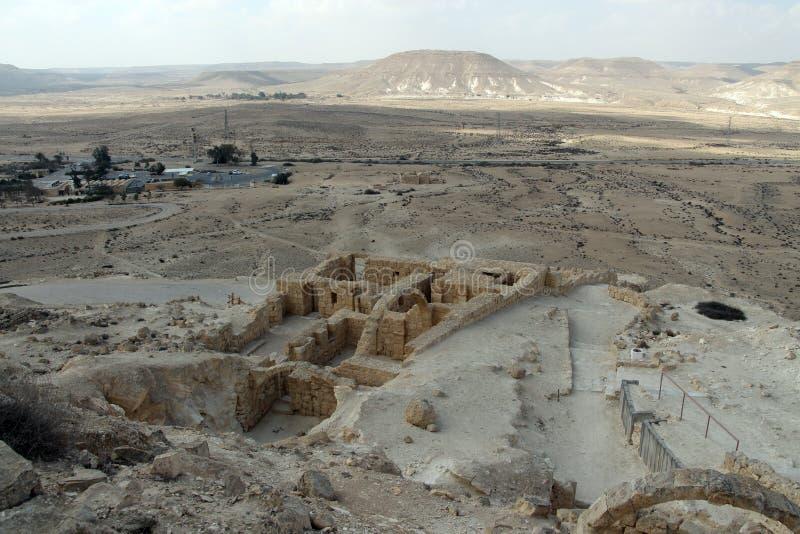 在Neqev沙漠的看法从国家公园Ein Avdat 库存照片