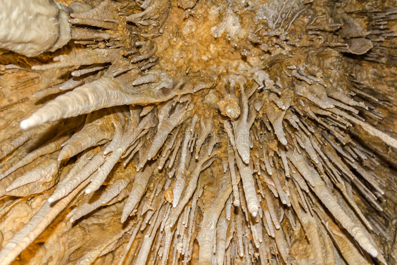在Newdigate洞塔斯马尼亚岛的钟乳石 免版税库存照片