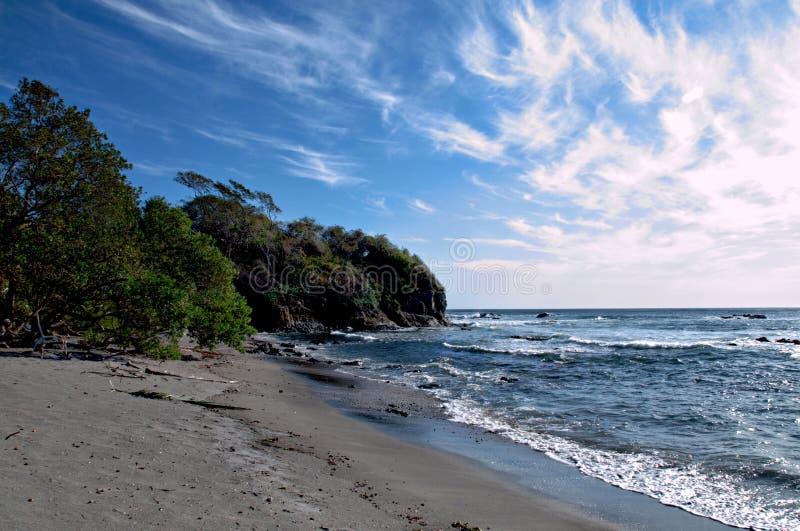 在Nicoya半岛的Junquillal海滩, Guanacaste,哥斯达黎加 免版税图库摄影