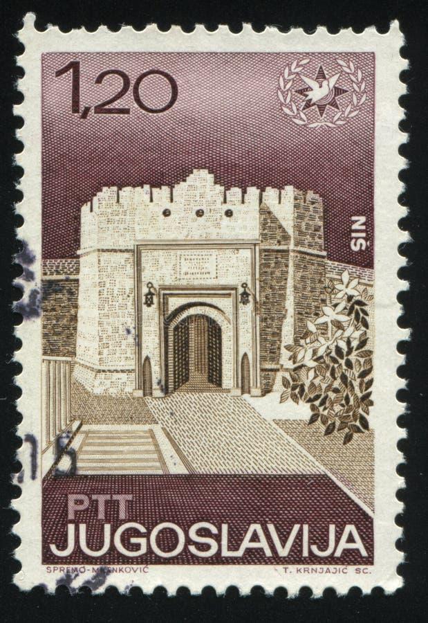 在Nis的堡垒门 免版税库存照片