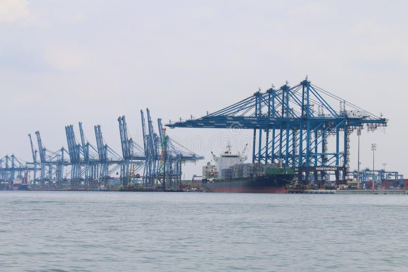 在Northport,巴生,马来西亚-系列2的船 免版税库存图片