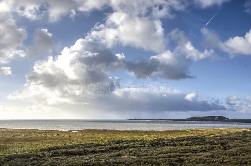 在Northsea的云彩 免版税库存图片
