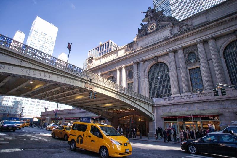 在NYC曼哈顿的盛大中央驻地 库存照片