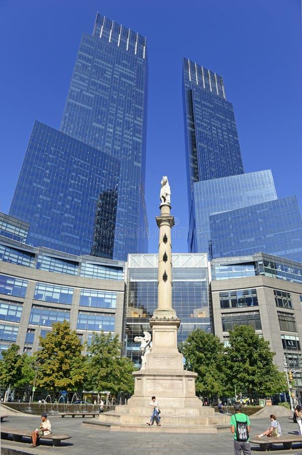 在NYC的时代华纳中心 库存图片
