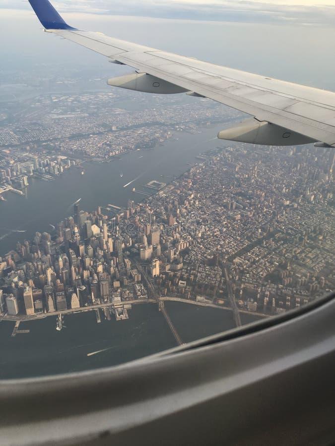 在NYC的飞行 图库摄影