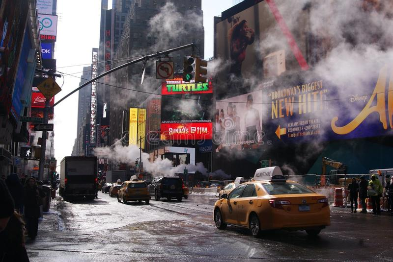 在NYC的组织的madnes 免版税库存照片