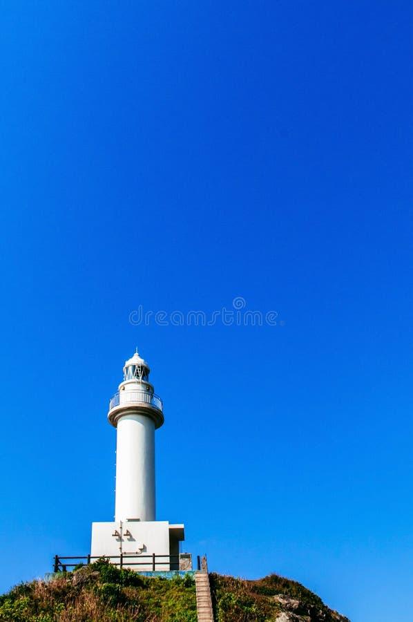 在Oganzaki海角的灯塔 石垣海岛, Okin的吸引力 库存照片