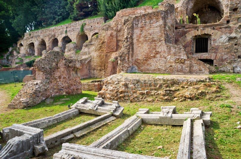 在Palatine小山的废墟在罗马 免版税库存图片
