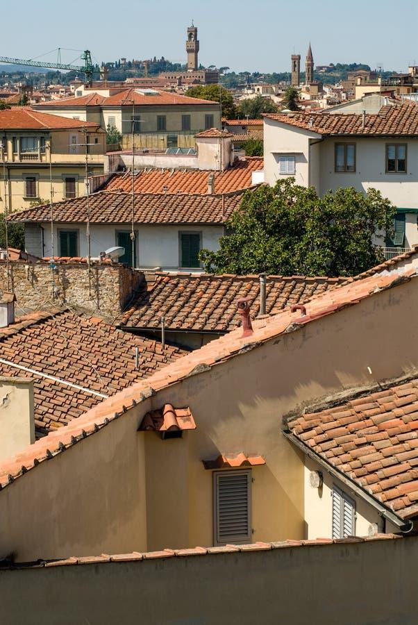 在palazzo vecchio的看法在佛罗伦萨 库存图片