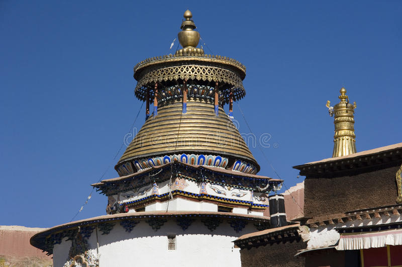 在Palcho修道院-西藏的Kumbum 库存图片