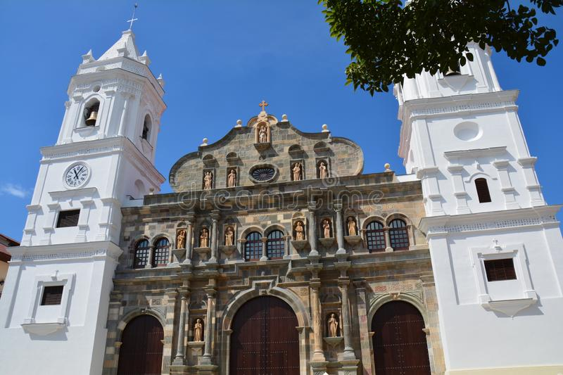 在Panamà ¡的巴拿马奥尔德敦casco Viejo 库存照片