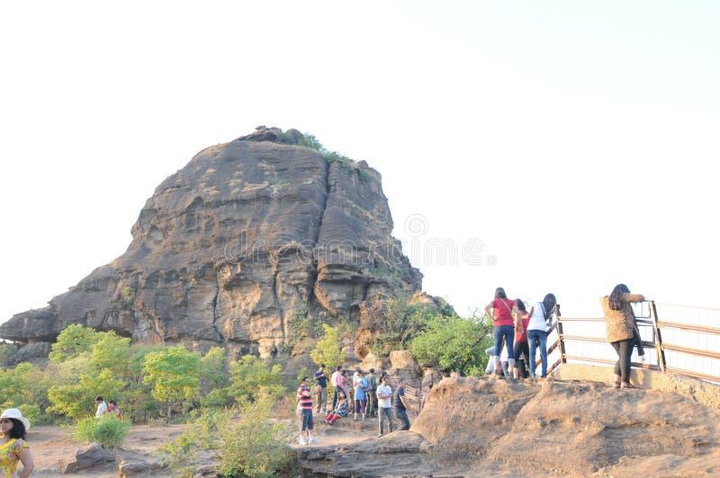 在Panchmarhi,印度的Dhoopgadh 库存图片
