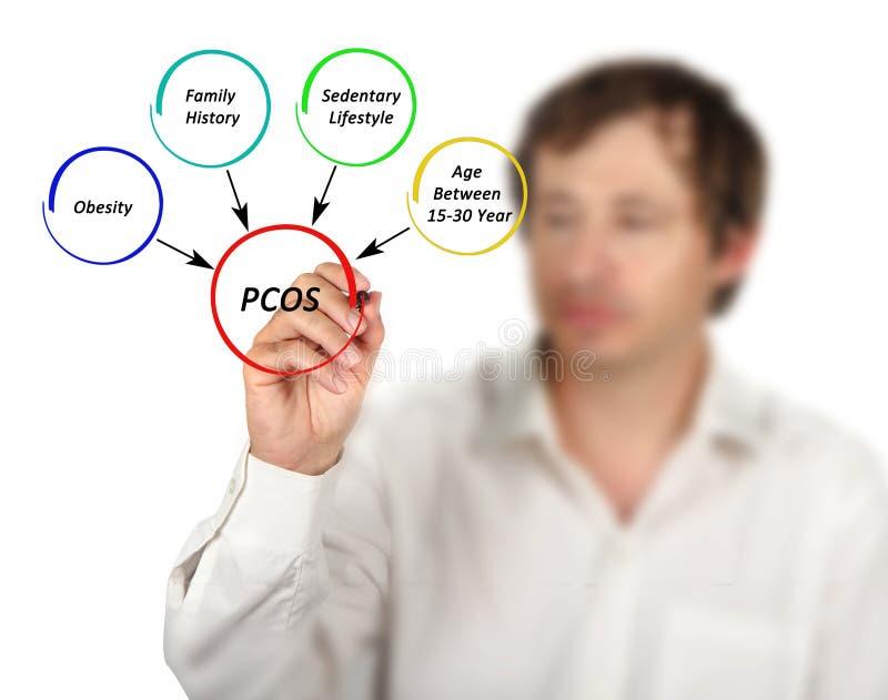 在PCOS的因素 库存图片