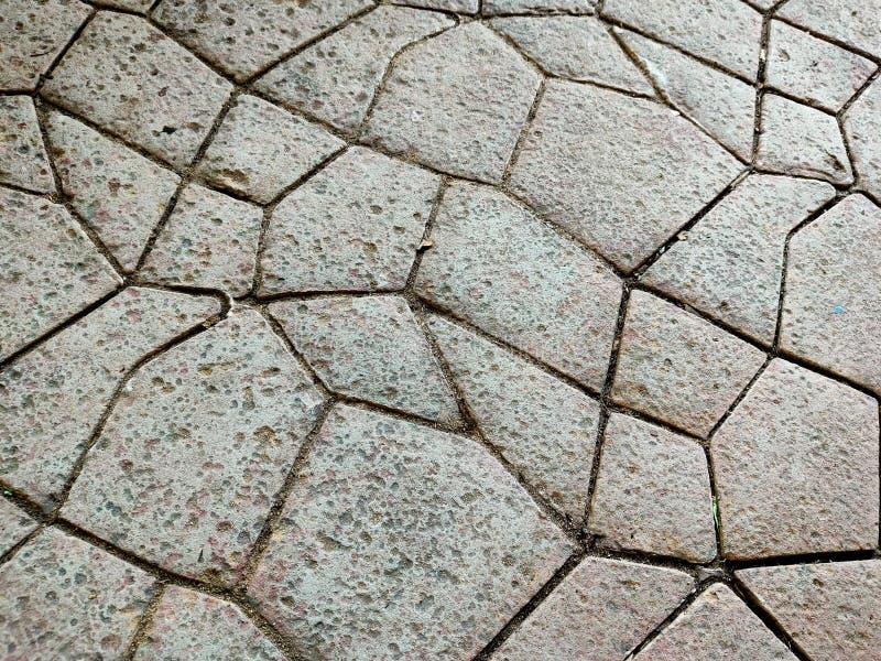 在Phu Phrao寺庙,泰国附近的石走道样式 免版税图库摄影