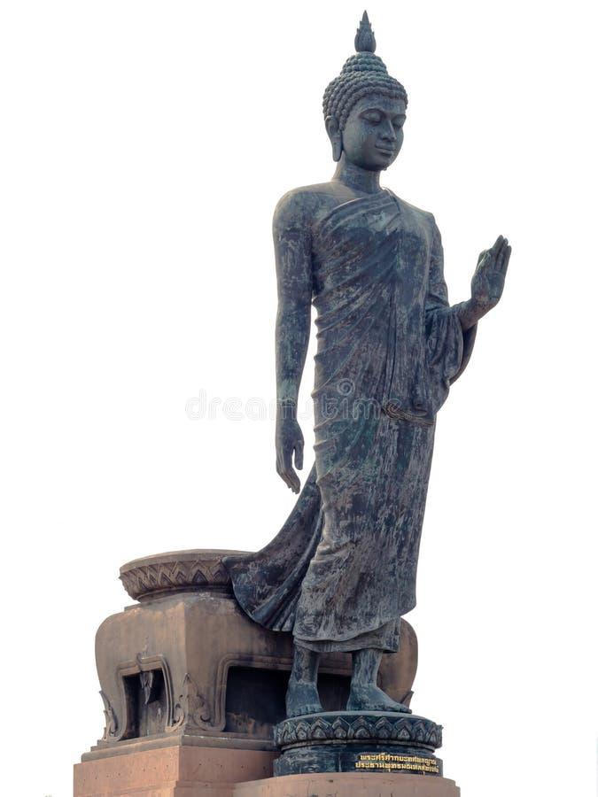 在Phutthamonthon,泰国的走的菩萨雕象 免版税库存照片