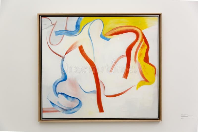 在Pinakothek der的威廉De Kooning工作摩登呢在慕尼黑 库存图片