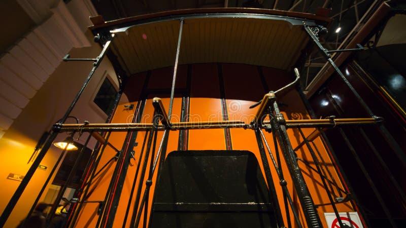 在piron的减速火箭的火车,圣徒Petrsburg, 2017年11月18日 图库摄影