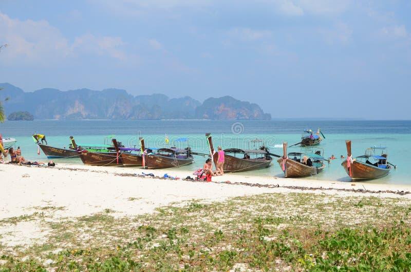 在Poda海岛的小船 免版税库存照片